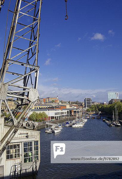 Kranich, Hafen, Europa, Großbritannien, fließen, Bristol, Turmkran, England, alt