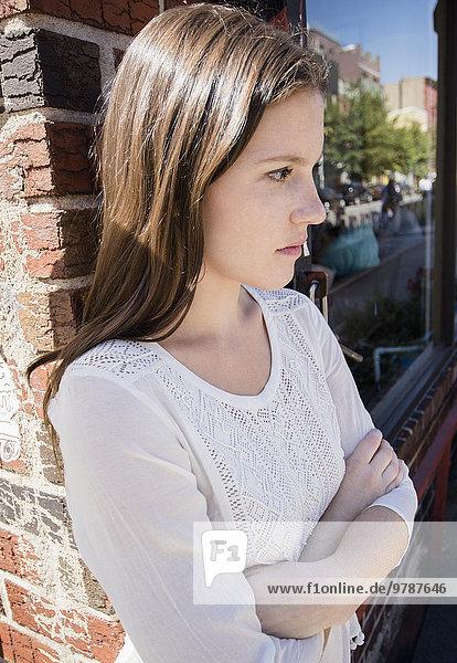 überqueren Europäer Frau Ärger Close-up close-ups close up close ups