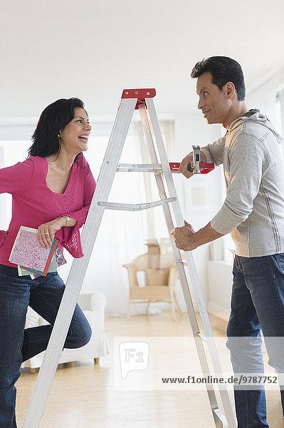 sprechen Leiter Leitern Wohnhaus Renovierung