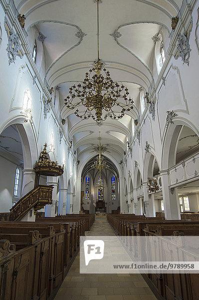 St. Mang  evangelisch-lutherische Stadtpfarrkirche  Kempten  Allgäu  Bayern  Deutschland  Europa