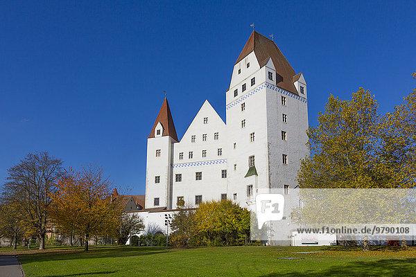 Neues Schloss  Bayerisches Armeemuseum  Herbst  Ingolstadt  Oberbayern  Bayern  Deutschland  Europa