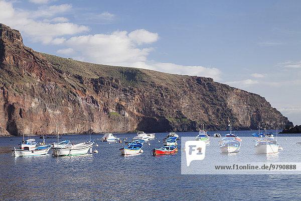 Fischerhafen  Vueltas  Valle Gran Rey  La Gomera  Kanarische Inseln  Spanien  Europa