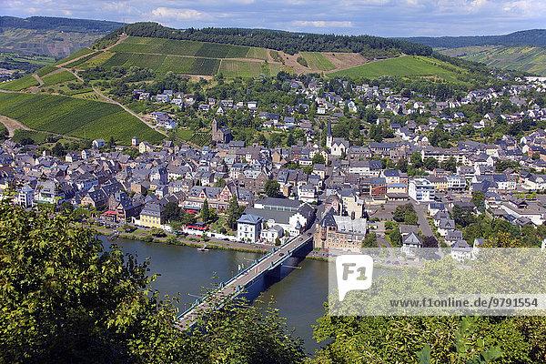 Mosel  Ortsansicht  Traben  Traben-Trarbach  Rheinland-Pfalz  Deutschland  Europa