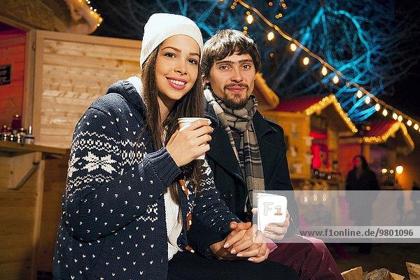 Weihnachten jung trinken Markt