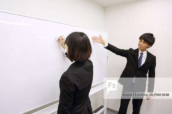 Mensch arbeiten Menschen jung Untersuchung Business japanisch