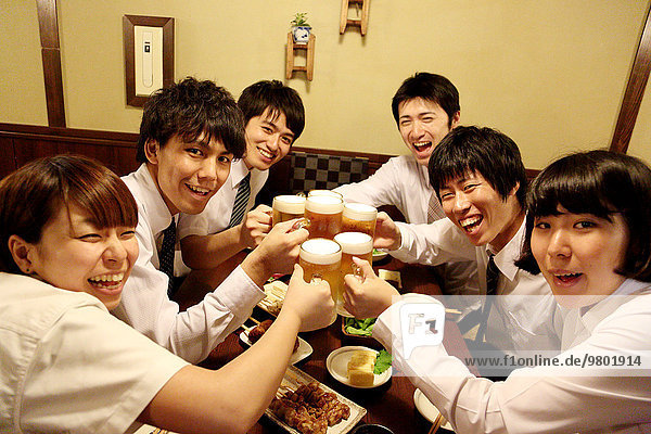Mensch Lifestyle Menschen trinken Business japanisch