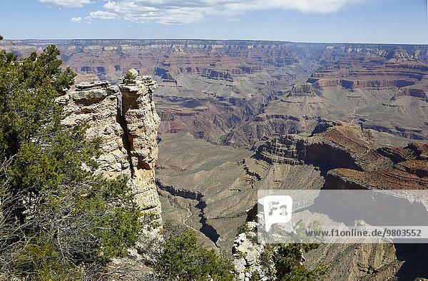 Landschaftlich schön landschaftlich reizvoll Felsen Vereinigte Staaten von Amerika USA April
