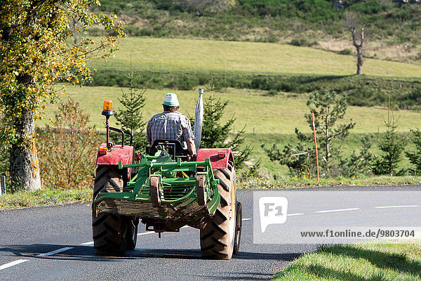 Frankreich Traktor Bauer