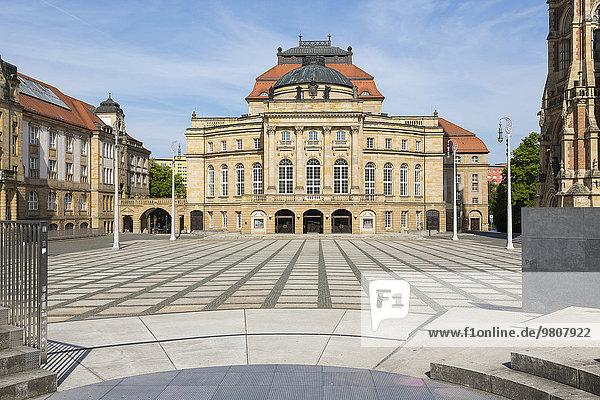 Opernhaus auf dem Theaterplatz  Chemnitz  Sachsen  Deutschland  Europa