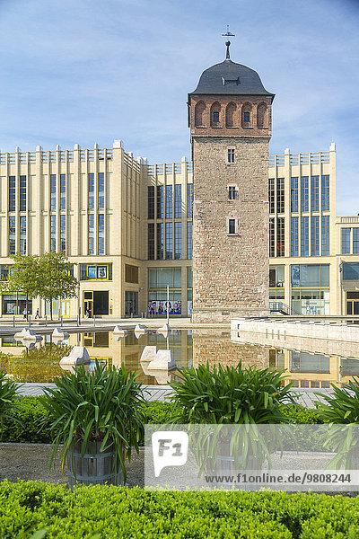 'Roter Turm und Galerie ''Roter Turm''  Chemnitz  Sachsen  Deutschland  Europa'
