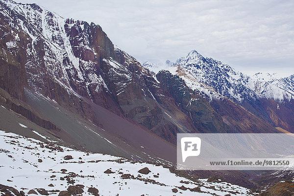 Gebirge  Santiago  Chile
