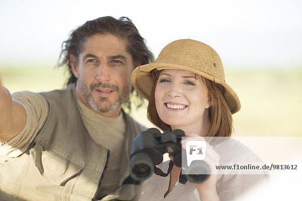 Paar im Safariurlaub