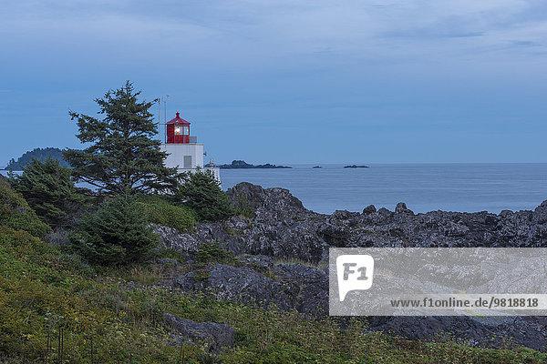 Kanada  British Columbia  Vancouver Island  Ucluelet  Amphitrite Leuchtturm