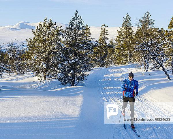 überqueren, Mann, Skisport, Kreuz