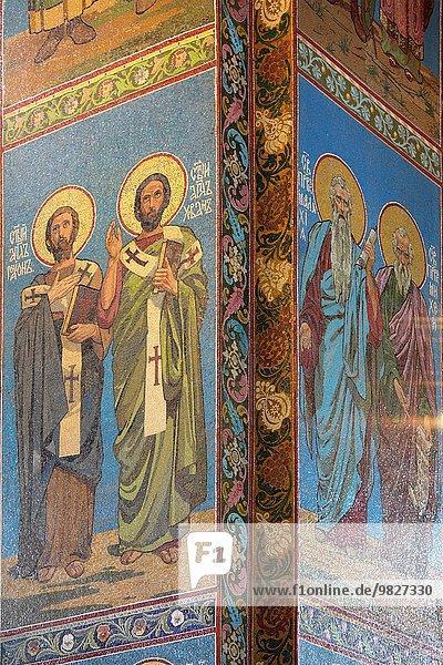 Russland Innenansicht einer Kirche