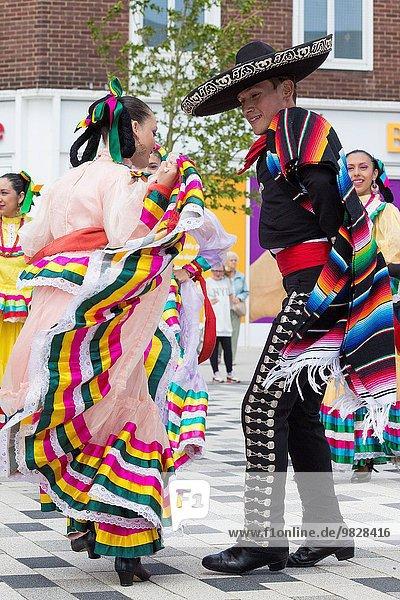 Großbritannien Tänzer Mexiko Globalisierung Festival Folklore North East England
