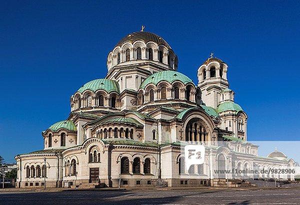 Sofia Hauptstadt Morgen Quadrat Quadrate quadratisch quadratisches quadratischer Bulgarien