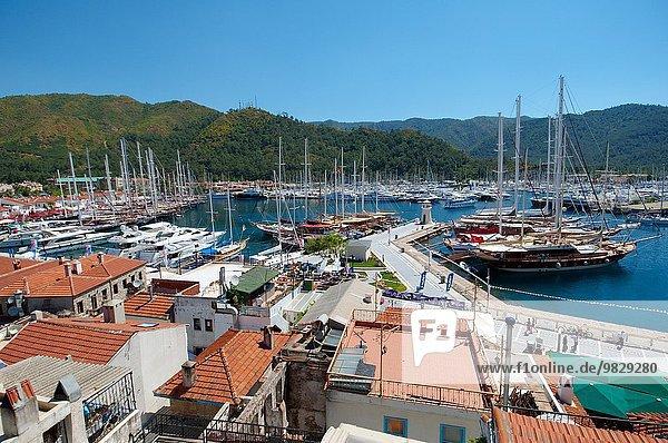 Segeln Hafen Schiff Marmaris Türkei Provinz Mugla