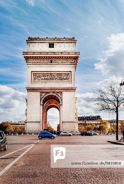 Paris Hauptstadt Arc de Triomphe