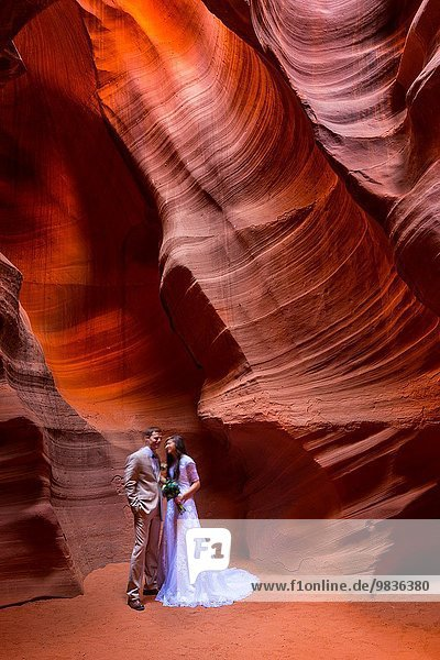 Vereinigte Staaten von Amerika USA Arizona Antelope Canyon Page