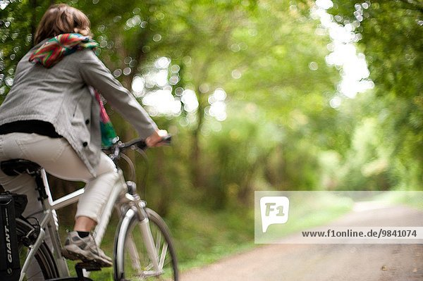 Woman in bicycle  Malicornay