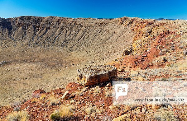 Meteor Crater is a meteorite impact crater. The site was formerly known as the Canyon Diablo Crater  Arizona  USA.
