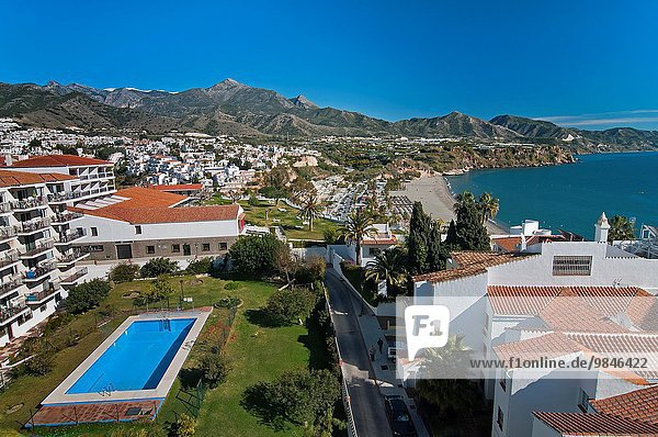 Panoramic view  Nerja  Malaga province  Region of Andalusia  Spain  Europe.