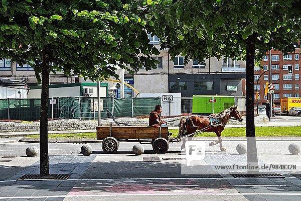 Straße Fuhrwerk Spanien