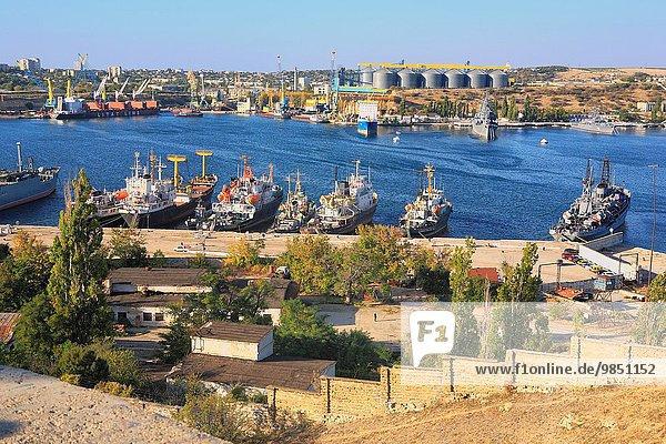 Ansicht Krim Bucht Sewastopol Ukraine