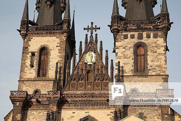 Prag Hauptstadt Europa Kirche Tschechische Republik Tschechien Tyn