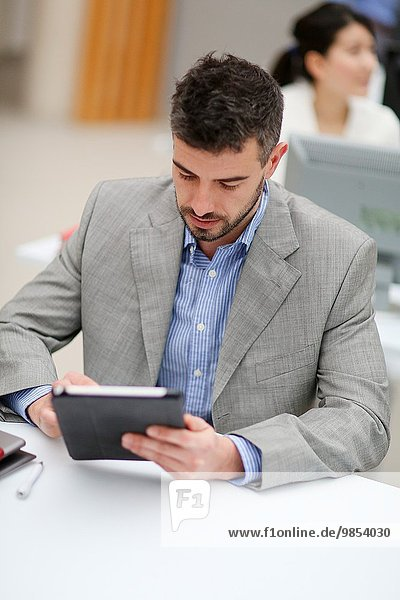 Geschäftsmann Tablet PC