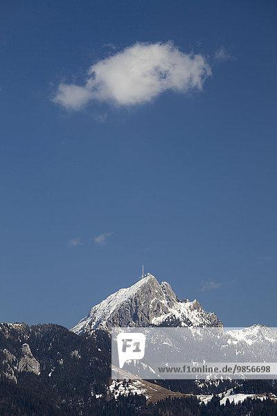 Wendelstein  Gipfel  Mangfallgebirge  Bayerische Alpen  Oberbayern  Bayern  Deutschland  Europa