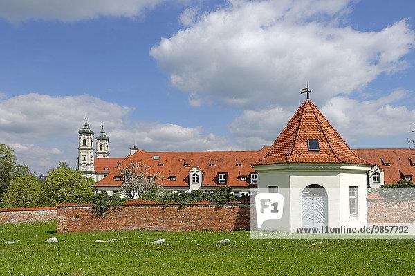 Benediktinerkloster Ottobeuren  Unterallgäu  Bayerisch Schwaben  Bayern  Deutschland  Europa