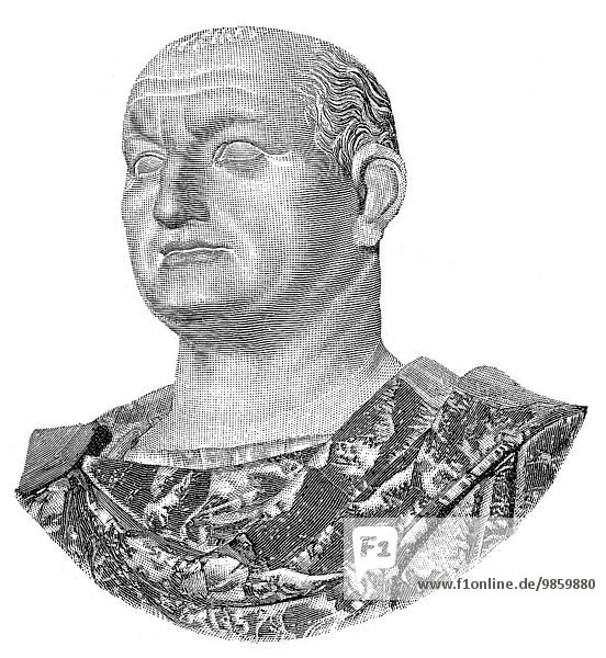 Vespasian  or Titus Flavius ??Vespasianus  Roman emperor  historical illustration