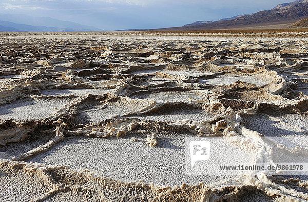 Badwater Basin  Death Valley  Kalifornien  USA  Nordamerika