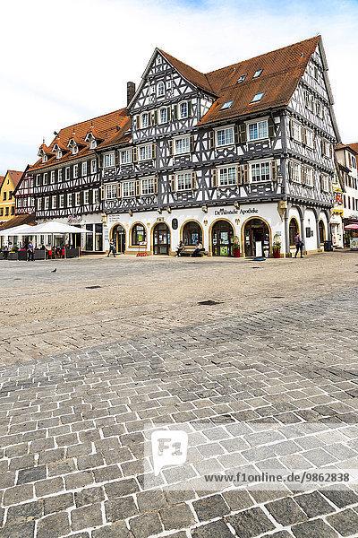 Fachwerkhaus  Marktplatz  Schorndorf  Baden-Württemberg  Deutschland  Europa Fachwerkhaus, Marktplatz, Schorndorf, Baden-Württemberg, Deutschland, Europa