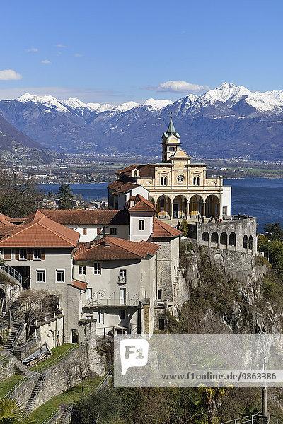 Wallfahrtskirche Madonna del Sasso  Orselina  Locarno  Kanton Tessin  Schweiz  Europa