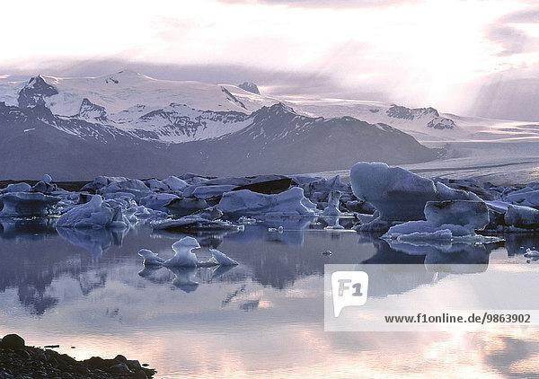 Eisberg Island Jökulsárlón Lagune