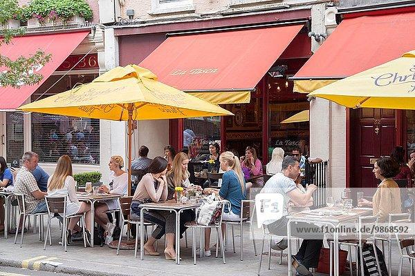 Großbritannien London Hauptstadt Straße Restaurant England