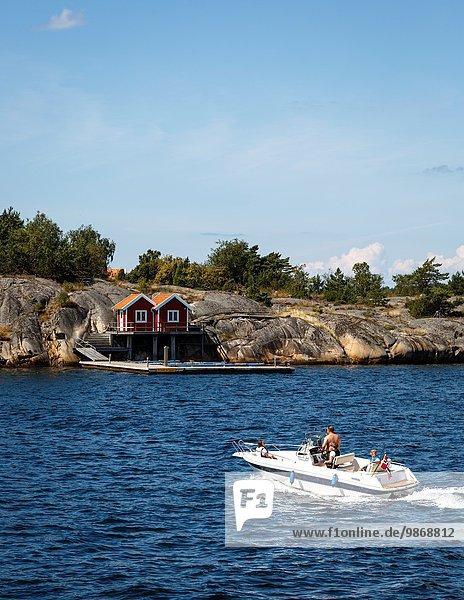 nahe Boot Insel Geschwindigkeit Schweden