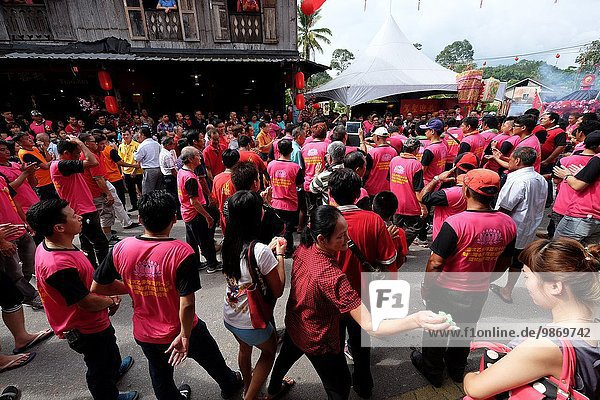 Chinese New Year Festival Capgomeh year 2015 15th day of the 1st month at Siniawan  Sarawak  Malaysia