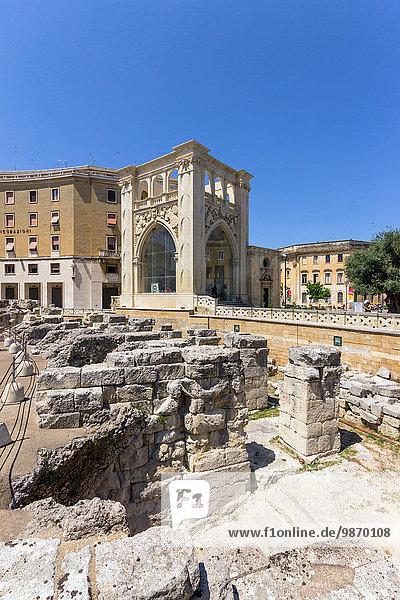 Detail Details Ausschnitt Ausschnitte Palast Schloß Schlösser Italien Lecce römisch