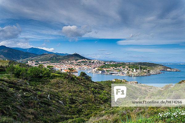 Hafen Stadt Ruine Hintergrund Fokus auf den Vordergrund Fokus auf dem Vordergrund Festung Geographie Südfrankreich
