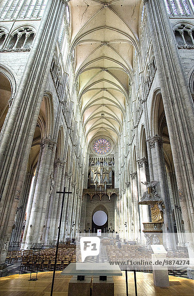 Kathedrale schreiben Gotik UNESCO-Welterbe Amiens katholisch Decke Kirchenschiff römisch