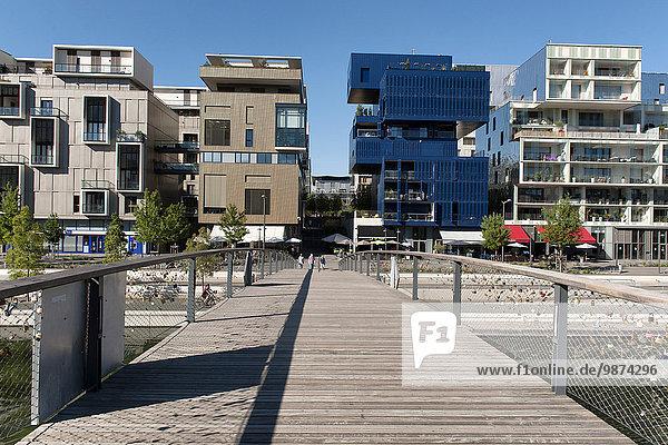 Freundschaft modern Wohngebäude Gebäude Fluss Nostalgie Kai Steppe vorwärts Natürlichkeit Ökologie Ortsteil Lyon neu