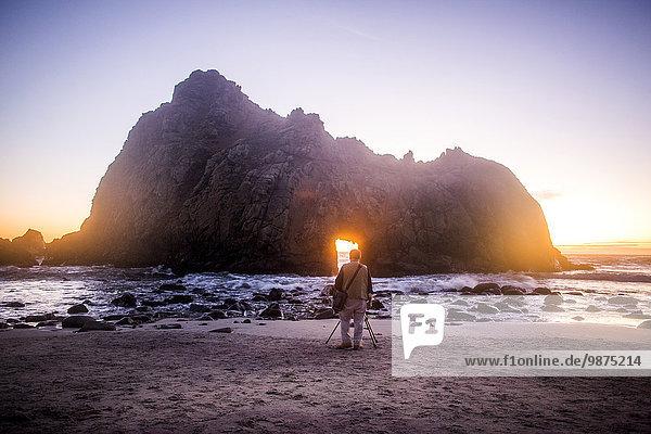 Felsbrocken Vereinigte Staaten von Amerika USA Strand Anordnung fotografieren Fotograf Big Sur Kalifornien