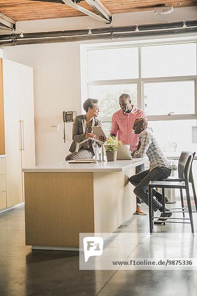 Mensch Entspannung Büro Menschen Küche Business