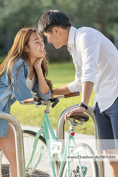 Wäscheständer südkoreanisch Fahrrad Rad abschließen