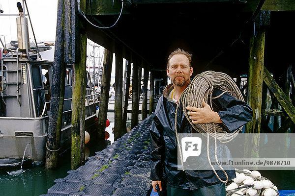 Portrait arbeiten Süden Alaska Fischer