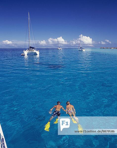 'Snorkelling; Tahiti'